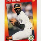 1992 Donruss Triple Play Baseball #088 Dave Stewart - Oakland A's