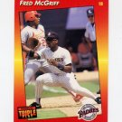 1992 Donruss Triple Play Baseball #087 Fred McGriff - San Diego Padres