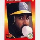 1992 Donruss Triple Play Baseball #034 Harold Baines - Oakland A's