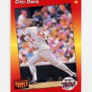 1992 Donruss Triple Play Baseball #027 Chili Davis - Minnesota Twins