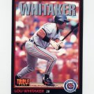 1993 Donruss Triple Play Baseball #224 Lou Whitaker - Detroit Tigers