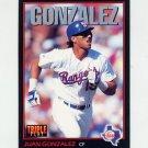 1993 Donruss Triple Play Baseball #221 Juan Gonzalez - Texas Rangers