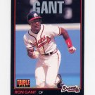 1993 Donruss Triple Play Baseball #199 Ron Gant - Atlanta Braves