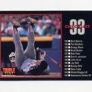 1993 Donruss Triple Play Baseball #198 Checklist 133-198