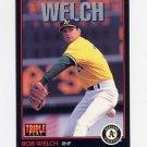 1993 Donruss Triple Play Baseball #192 Bob Welch - Oakland A's
