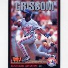 1993 Donruss Triple Play Baseball #159 Marquis Grissom - Montreal Expos