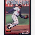 1993 Donruss Triple Play Baseball #147 Terry Pendleton - Atlanta Braves