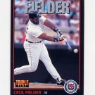 1993 Donruss Triple Play Baseball #005 Cecil Fielder - Detroit Tigers