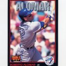 1993 Donruss Triple Play Baseball #002 Roberto Alomar - Toronto Blue Jays