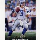 1995 Upper Deck Football #058 Rick Mirer - Seattle Seahawks
