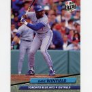 1992 Ultra Baseball #454 Dave Winfield - Toronto Blue Jays