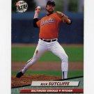 1992 Ultra Baseball #309 Rick Sutcliffe - Baltimore Orioles