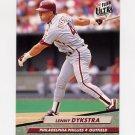 1992 Ultra Baseball #241 Len Dykstra - Philadelphia Phillies