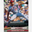1992 Ultra Baseball #187 Rob Dibble - Cincinnati Reds