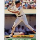 1992 Ultra Baseball #115 Mark McGwire - Oakland A's