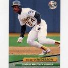1992 Ultra Baseball #114 Rickey Henderson - Oakland A's