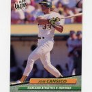 1992 Ultra Baseball #110 Jose Canseco - Oakland A's