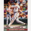1992 Ultra Baseball #011 Cal Ripken - Baltimore Orioles