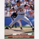 1992 Ultra Baseball #009 Mike Mussina - Baltimore Orioles