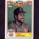 1990 Topps Baseball Glossy All-Stars #08 Tony Gwynn - San Diego Padres