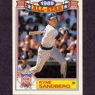 1990 Topps Baseball Glossy All-Stars #03 Ryne Sandberg - Chicago Cubs
