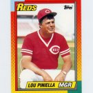 1990 Topps Traded Tiffany Baseball #096T Lou Piniella MG - Cincinnati Reds