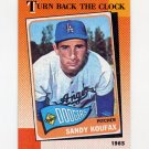 1990 Topps Baseball #665 Sandy Koufax TBC - Los Angeles Dodgers