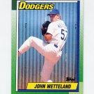 1990 Topps Baseball #631 John Wetteland - Los Angeles Dodgers