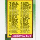 1990 Topps Baseball #376 Checklist 3
