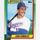 1990 Topps Baseball #331 Juan Gonzalez RC - Texas Rangers