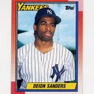1990 Topps Baseball #061 Deion Sanders - New York Yankees