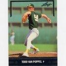 1991 Leaf Baseball Gold Rookies #BC09 Todd Van Poppel - Oakland A's