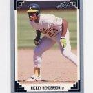 1991 Leaf Baseball #101 Rickey Henderson - Oakland A's