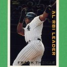 1995 Topps Baseball League Leaders #LL39 Frank Thomas - Chicago White Sox