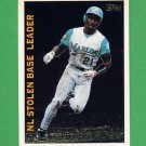 1995 Topps Baseball League Leaders #LL20 Chuck Carr - Florida Marlins
