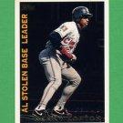 1995 Topps Baseball League Leaders #LL16 Kenny Lofton - Cleveland Indians