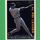 1995 Topps Baseball League Leaders #LL14 Albert Belle - Cleveland Indians
