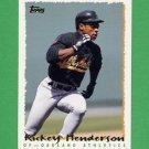 1995 Topps Baseball #559 Rickey Henderson - Oakland A's