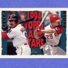 1995 Topps Baseball #385 Bret Boone AS / Carlos Baerga AS