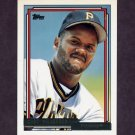 1992 Topps Gold Baseball #712 Curt Wilkerson - Pittsburgh Pirates