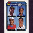 1992 Topps Gold Baseball #551 Manny Alexander / Alex Arias / Wil Cordero / Chipper Jones