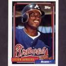 1992 Topps Baseball #645 Deion Sanders - Atlanta Braves