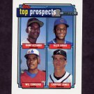 1992 Topps Baseball #551 Manny Alexander / Alex Arias / Wil Cordero / Chipper Jones