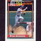 1992 Topps Baseball #387 Ryne Sandberg AS - Chicago Cubs