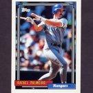 1992 Topps Baseball #055 Rafael Palmeiro - Texas Rangers