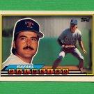 1989 Topps BIG Baseball #257 Rafael Palmeiro - Texas Rangers