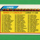 1989 Topps BIG Baseball #176 Checklist 111-220