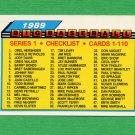 1989 Topps BIG Baseball #059 Checklist 1-110