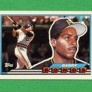 1989 Topps BIG Baseball #005 Barry Bonds - Pittsburgh Pirates