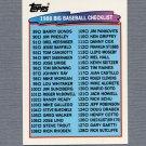 1988 Topps BIG Baseball #126 Checklist 89-176